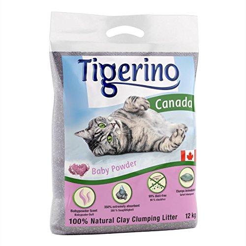 Tigerino Doppelpack Canada Katzenstreu, Babypuder 2x12kg