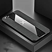 For OPPO A57 Stitching Cloth Textue Shockproof TPU Protective Case New (Black) LKay (Color : Black)