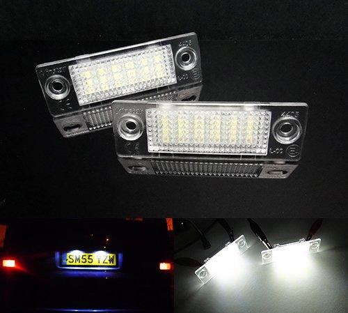 LED Kfz-Kennzeichen-Beleuchtung, Weiß, für Transporter T5 T6 Multivan Caddy Jetta Passat, 2 Stück