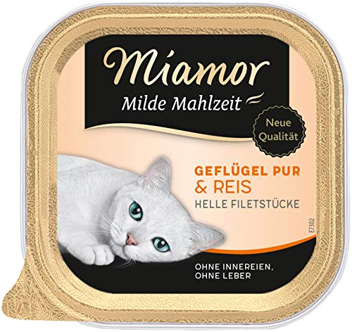 Miamor Milde Mahlzeit Geflügel Pur & Reis 16 x 100g