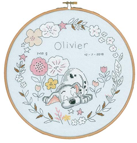 Vervaco – Kit de Punto de Cruz Disney Pequeño dálmata, Cruz Cruz, algodón, Multicolor, 24 x 24 x 0,3 cm