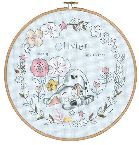 Vervaco–Kit de Punto de Cruz Disney Pequeño dálmata, Cruz Cruz, algodón, Multicolor, 24x 24x 0,3cm