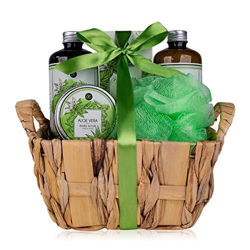 Accentra - Set regalo per il bagno con aloe vera, 6 pezzi, set regalo per ogni occasione