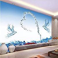 Djskhf 大カスタム壁画ミニマリストのモダンなリビングルームのソファテレビの背景3D壁紙3D 3D壁紙水ローズ 160X100Cm