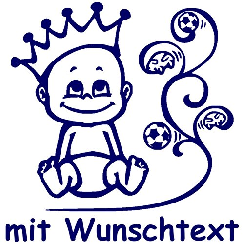 Hoffis Premium Babyaufkleber mit Name/Wunschtext Baby Kinder Autoaufkleber - Motiv 1281 (16 cm) - Farbe und Schriftart wählbar