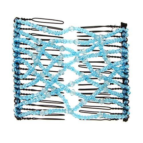 Fenteer Pinces à Cheveux Extensible EZ Accessoires de Cheveux - Bleu