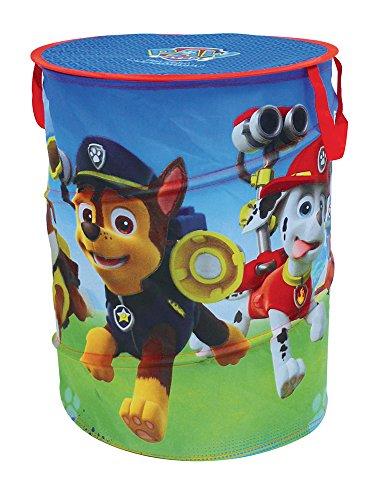 Unbekannt Fun House 712539 Pop-Up-Wäschekorb für Kinder, Motiv: Paw Patrol. Polyester, Rot, 38x 38x 50cm