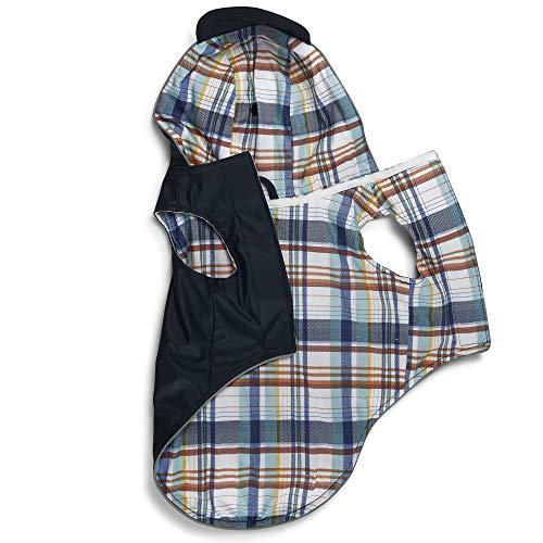 Nautica – Dog Sport Raincoat – Reversible Pet Raincoat for Dogs - Navy - Large