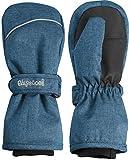 Playshoes Kinder - Unisex 1er Pack warme Winter-Handschuhe mit Klettverschluss Fäustling, Blau (Jeansblau 3), 2 ( 2-4 Jahre) (Herstellergröße: 2 ( 2-4 Jahre))