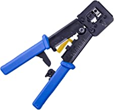 Ethernet Crimp Tool RJ45 and RJ12 Crimper Cutter Stripper - Wire Stripper/Crimper/Cutter For EZ End by ipolex