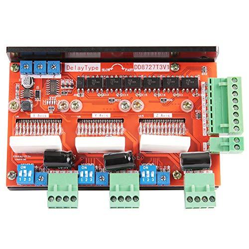 Controlador de motor paso a paso, módulo controlador de placa de controlador de motor paso a paso de 3 ejes 2 fases 4A 128 Microstep LV8727 DD8727T3V1