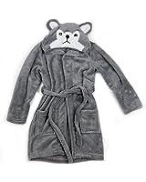 Hooded Fleece Toddler Robe (Gray Wolf)