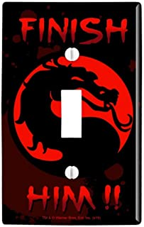 GRAPHICS & MORE Mortal Kombat Klassic Finish Him Plastic Wall Decor Toggle Light Switch Plate Cover