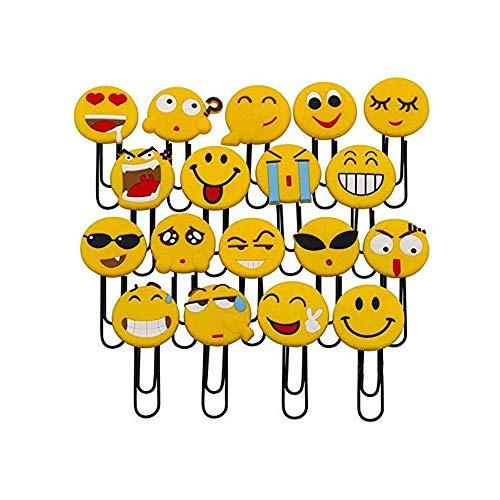 Cute Emoji Bookmarks, Funny Paperclip Bookmark, Novelty Emoticon Book Marker for Kids, Girls, Boys, School Student (Random 10PCS) … (10pcs)