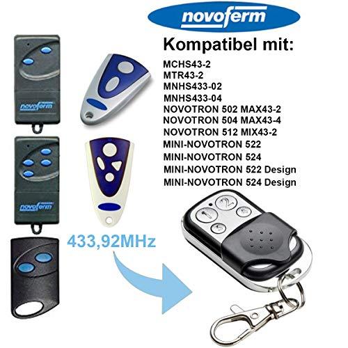 NOVOFERM Garagenbefehlstorfernbedienung NOVOFERM Handsender Rolling Code 433,92 MHz Schlüsselanhänger