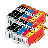 むさしのメディア Canon(キヤノン) BCI-371XL+370XL/5MPx2 (5色セットx2パック) 互換インクカートリッジ ICチップ付き