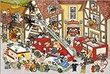 Poster 30 x 20 cm: Feuerwehr in Meinem Dorf von Marion