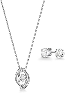 Mestige Women Glass Zariah Set with Swarovski Crystals