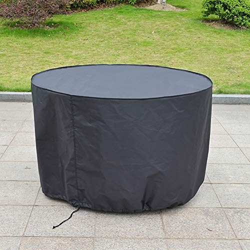 Buy Discount XZPENG Outdoor Protective Furniture Cover with Silver Coating, Round Garden Firewood Log Rack Cover, Waterproof Moisture-Proof (Size : 230X110CM)