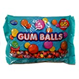 Arcor (1) Bag Gum Balls Assorted Flavors - Over 65 Pieces Individually Wrapped Chewing Gum - Bubble Gum, Orange, Peach, Cherry, Tutti Frutti Flavors - Net Wt. 7 oz