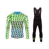 Uglyfrog Homme Maillot Pantalon Cyclisme Manches Longues Respirant Séchage Rapide 3D Gel Rembourré Costumes pour Vélo VTT Automne Style