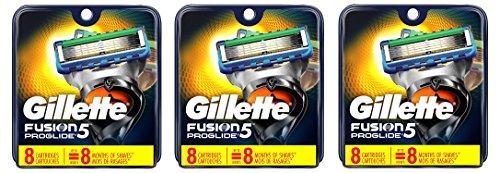 Gillette Fusion ProGlide Manual - Recambio para Cuchilla de Afeitar para Hombre, 3Pack (8 Cartridge)