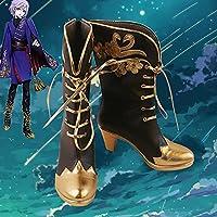 GalArea ツイステッドワンダーランド エペル・フェルミエ コスプレ靴 cosplay コス 靴 ブーツ 下駄 ハイヒール シューズ (23cm)