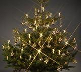 Trango 24 LED Weihnachtskerzen 340146 mit warmweißem LED Kerzen für Innenbereich - Weihnachtslichter - Beleuchtung – Christbaumbeleuchtung – LED Weihnachtsbaum Beleuchtung - Weihnachtsbeleuchtung