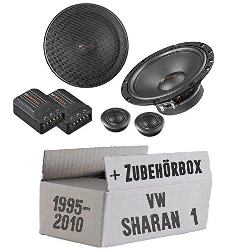 Lautsprecher Boxen Helix Match MS62C - 16cm 2-Wege Lautsprechersystem Auto Einbauzubehör - Einbauset für VW Sharan 1 I 7M Front oder Heck - JUST SOUND best choice for caraudio