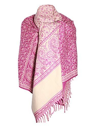 Baby Pink Winterschal Schal aus reiner Yak-Wolle, Dekoration, Decke, Unisex, übergroß, wendbar, luxuriös