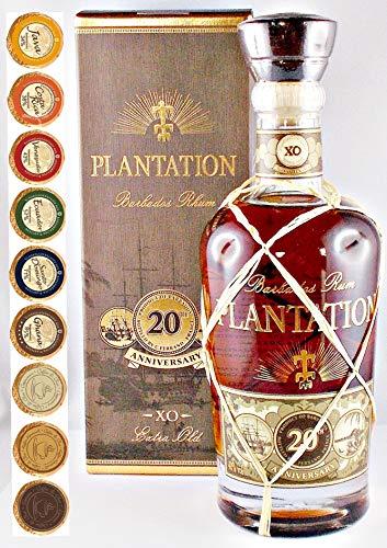 Plantation Extra Old 20th Anniversary Rum + 9 Edel Schokoladen in 9 Sorten