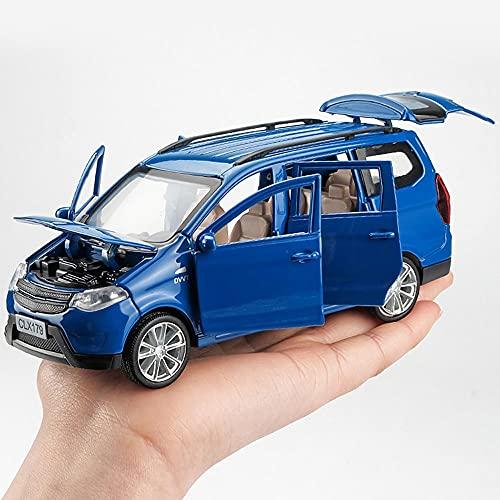 Xolye Legierung Sound und Licht Business Car Modell Ziehen Sie Rückenwagen Spielzeug 2 Farben Optionale offene Tür Kinder Bildungsspielzeug Auto Geschenk (Color : Blau)