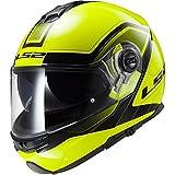 Casco modular moto LS2 FF325 Strobe Civik Hi-Vis amarillo (XS)