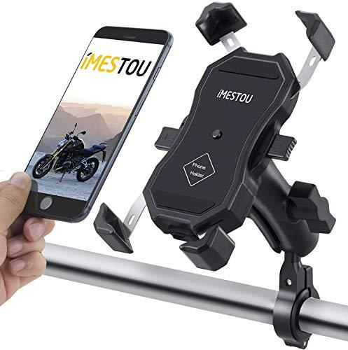 iMESTOU Handyhalterung für Fahrrad/Fahrrad, mit 9 cm langem Vorbau, doppelte Kugelgelenke für freie Rotation