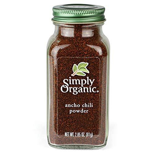 Simply Organic Ancho Chili Powder Certified Organic, 2.85 Ounce