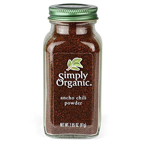 Simply Organic Ancho Chili Powder, Certified Organic | 2.85 oz