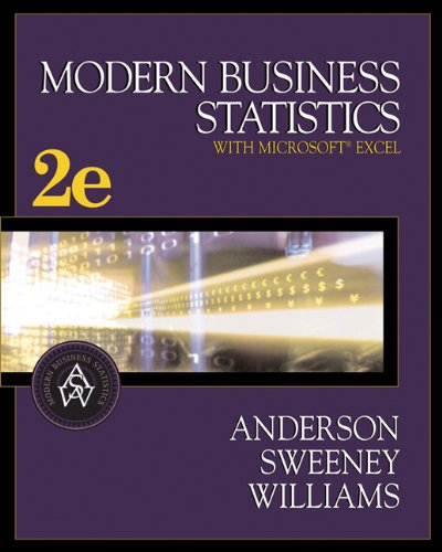 Modern Business Statistics (with CD-ROM and InfoTrac)...