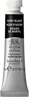 Winsor & Newton Professional Water Colour Paint, 5ml tube, Ivory Black