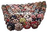 Assortiment de 20 poignées colorées Knobsworld en céramique - Pour les armoires,...