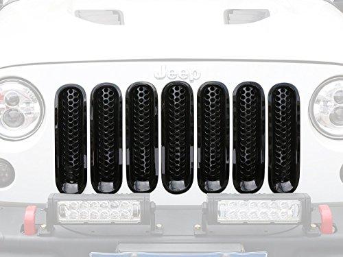 i-Shop - inserto in rete per la griglia anteriore, nero lucido (confezione da 7)