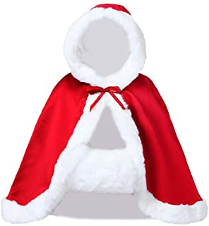 red cape with fur trim