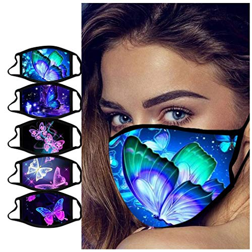 LiLiMeng 3D Design Butterfly Insect Biological Colorful Facial Macks - 𝙍𝙚𝙪𝙨𝙖𝙗𝙡𝙚 Fashion Adjustable Unisex Decorations (E)