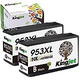 Kingjet Novedoso chip 953XL Multipack de cartuchos de impresora HP 953 953XL compatible con HP OfficeJet Pro 8710 8720 8725 8728 8730 8740 7720 7730 7740 8210 8218 8715 2718 ( Negro)