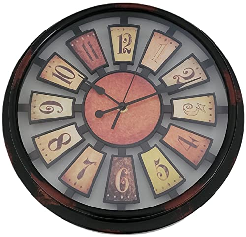 Reloj Pared Vintage Silencioso 30 cm | Decoración Pared Decoración Vintage | Reloj Pared Madera Dormitorio Salón Cocina Oficina Bar | Regalo Original