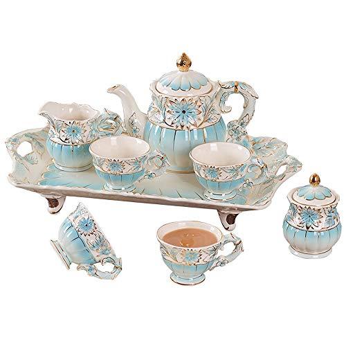 RXM theeset, 8-delig, Chinese stijl, met dienblad, keramiek, afternoon theeset, koffie, gastgeschenken