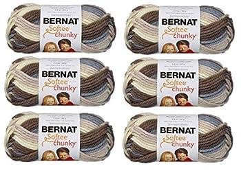 Bernat 161129-29012 Softee Chunky Ombre Yarn - Natures Way