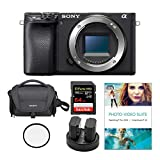 Sony Alpha a6400 24.2MP Mirrorless Digital Camera (Body Only) Bundled with Corel Photo Software, Koah Power Kit, Carrying Case, 64GB SDXC Card, and Accessories (6 Items)