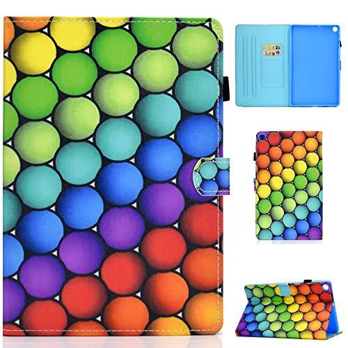 L&Btech Funda Samsung Tab A7 10.4'' 2020 Funda Protectora de Cuero PU de Calidad, con Soporte para Tarjeta y función de Soporte, Adecuada para Galaxy Tab A7 10.4' SM-T500/T505/T507- Círculo de Color