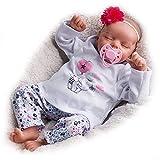 JIZHI muñecos Reborn, Muñecas de bebé Realistas de 17 Pulgadas con Vinilo Suave Hecho a Mano, Bebés Reborn de Bebé Recién Nacida Muñeca Reborn de Aspecto lo Real (bebé durmiendo)