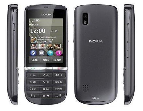 Nokia Asha 300 - Telefono cellulare Movistar sbloccato (61 mm (2,4), 320 x 240 pixel, LCD, microSD (Transflash), 140 MB, 256 MB) Graphite